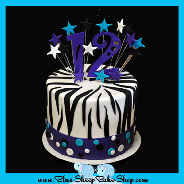 Custom Zebra Cupcake Tree Cake Topper Custom Cakes NJ