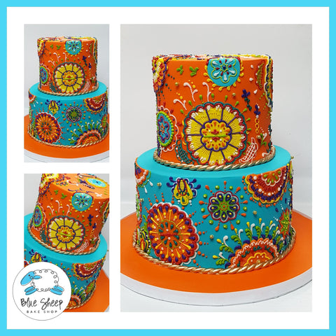 mandala inspired wedding cake nj
