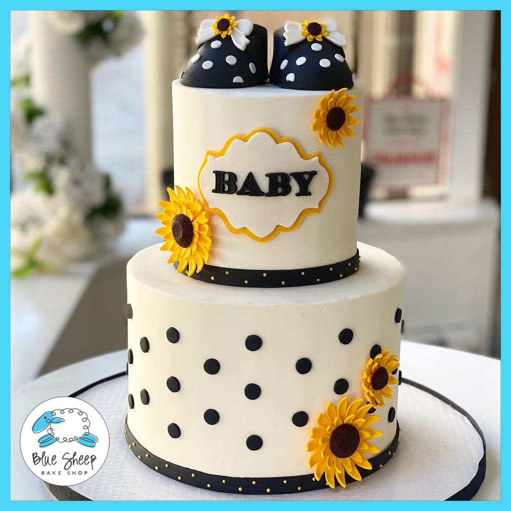 sunflower baby shower cake