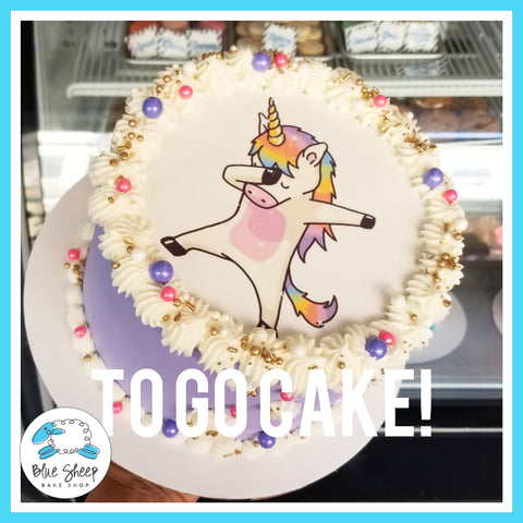 Dabbing Unicorn To Go Cake