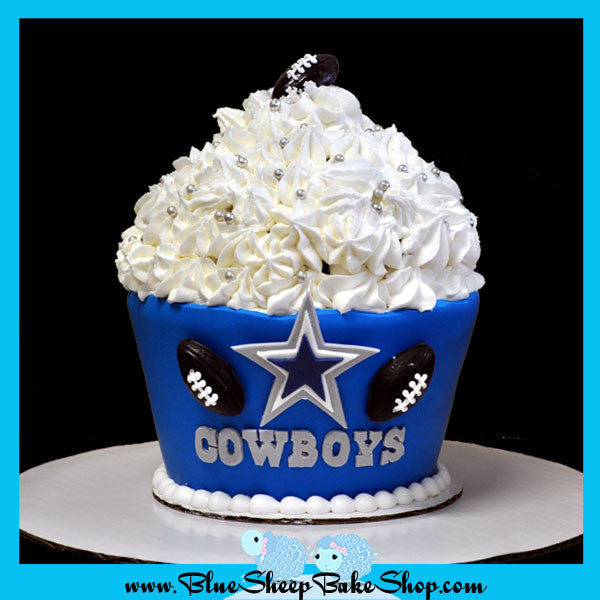 Dallas Cowboys Giant Cupcake Cake Blue Sheep Bake Shop