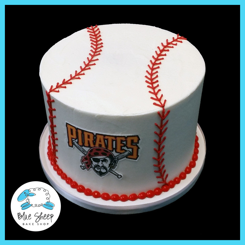 Miraculous Buttercream Baseball Birthday Cake Blue Sheep Bake Shop Funny Birthday Cards Online Fluifree Goldxyz