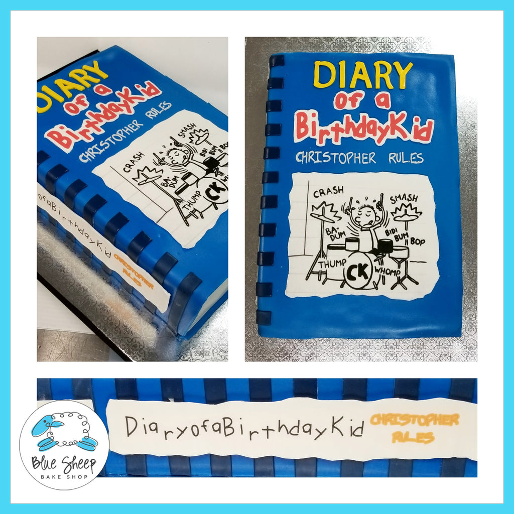 Diary of a Wimpy Kid Birthday Cake, Blue Sheep Bake Shop NJ