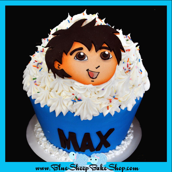 Admirable Diego Giant Cupcake Birthday Cake Custom Cakes Nj By Blue Sheep Funny Birthday Cards Online Alyptdamsfinfo