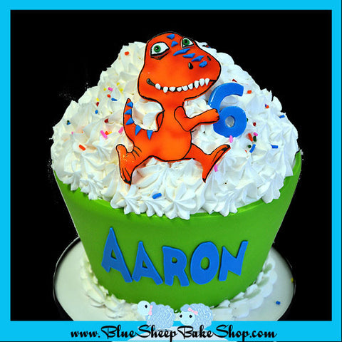 dinosaur train giant cupcake cake