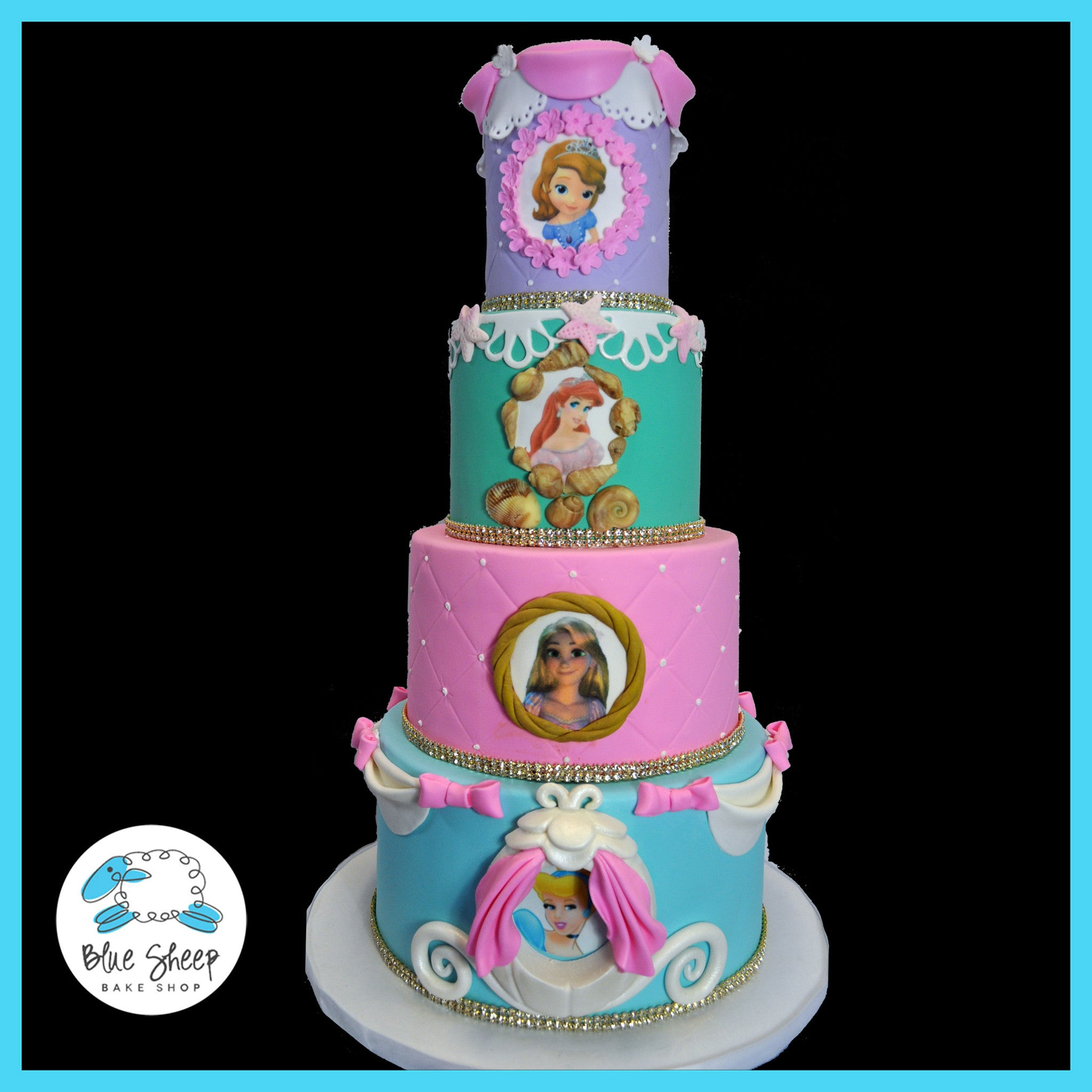 Disney Princess Cake Sofia The First Cinderella Rapunzel Tangled Ariel