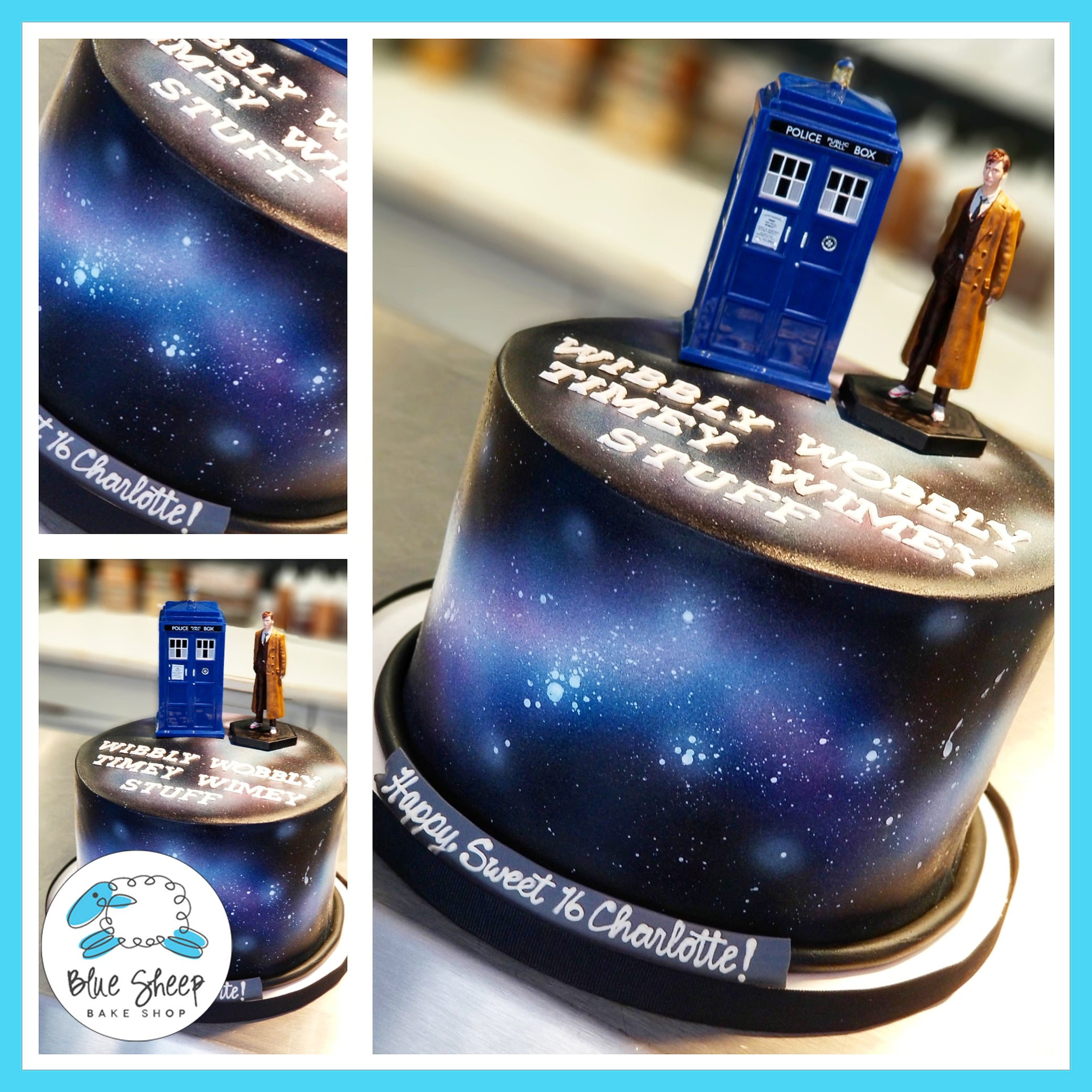 Pleasing Dr Who Birthday Cake Nj Blue Sheep Bake Shop Funny Birthday Cards Online Inifofree Goldxyz