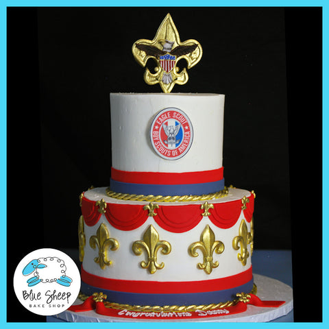 Eagle Scout Buttercream Cake