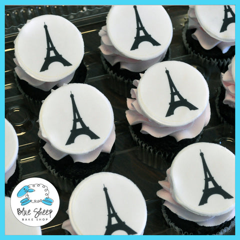 Eiffel Tower Birthday Cupcakes