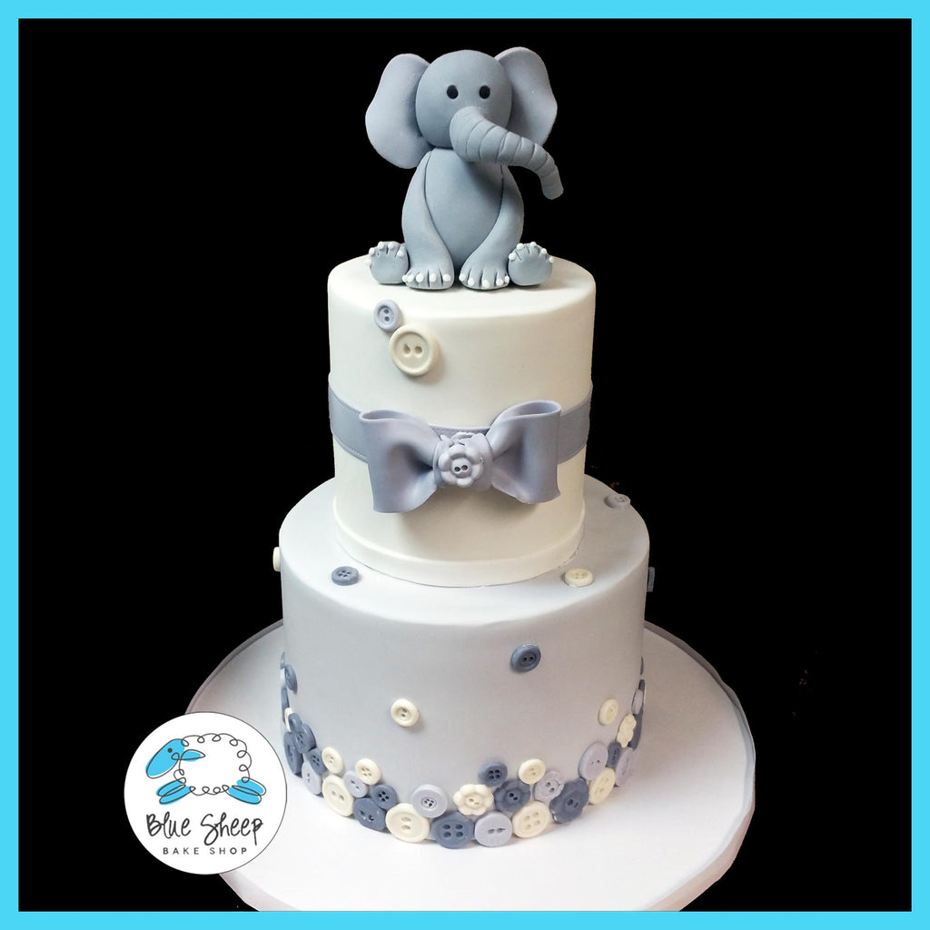elephant buttons baby shower cake nj