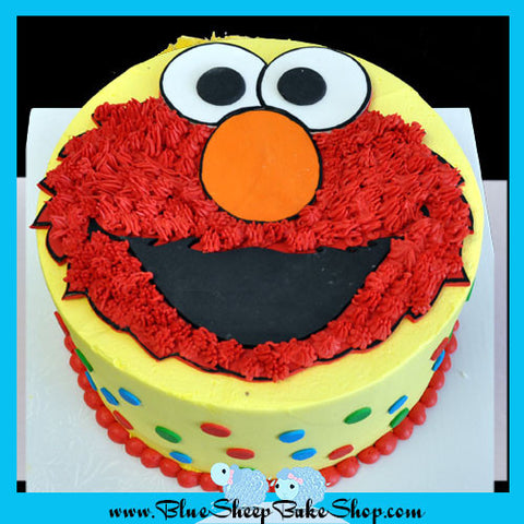 Elmo 1st Birthday Cake