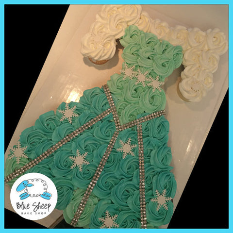 Frozen - Elsa's Dress Cupcake Cake