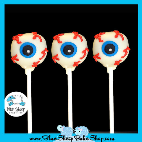 12 Eyeball Cake Pop Favors