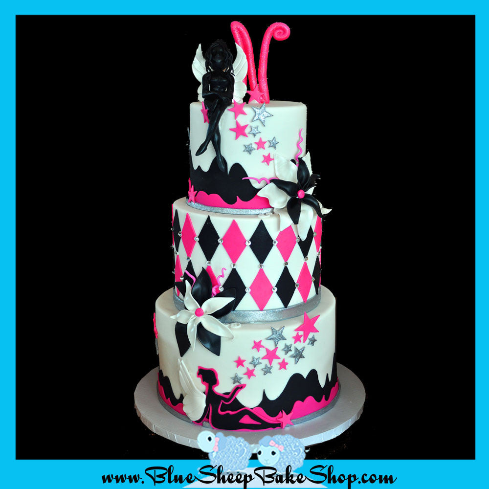 fairy sweet 16 custom cake nj