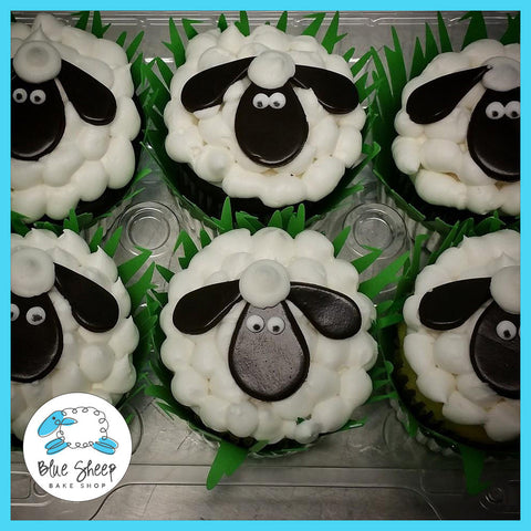 sheep cupcakes farm cupcakes