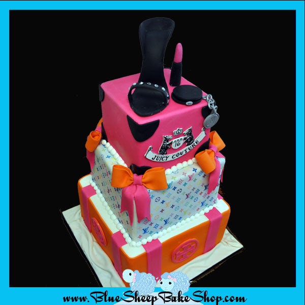 Custom Sweet 16 Fashion Cake