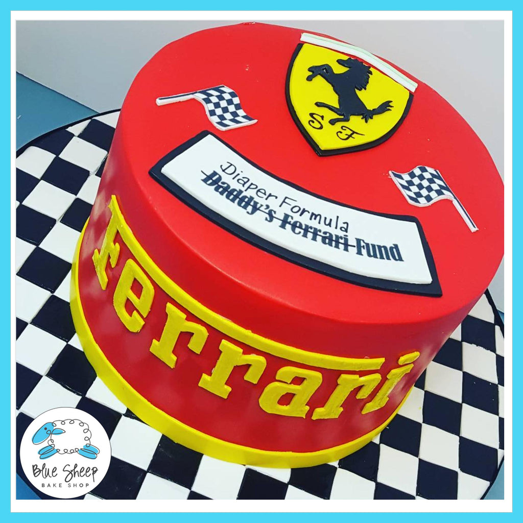 ferrari baby shower cake custom cakes nj