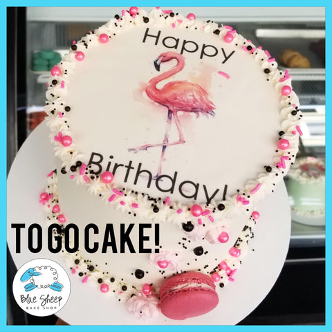 Flamingo To Go Birthday Cake