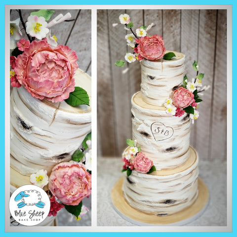 Fondant Birch Wedding Cake NJ