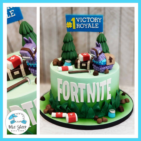 Fortnite Battle Royal Cake - NJ Custom Cakes, Blue Sheep Bake Shop