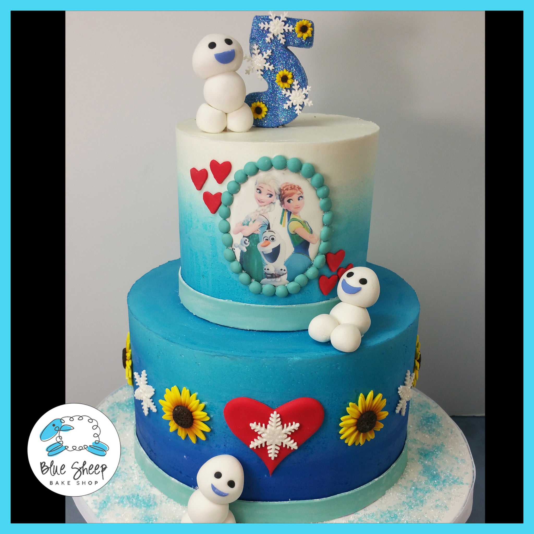 Frozen Fever Cake Blue Sheep Bake Shop