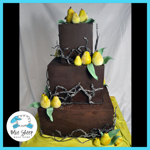 Ganache & Pear Wedding Cake