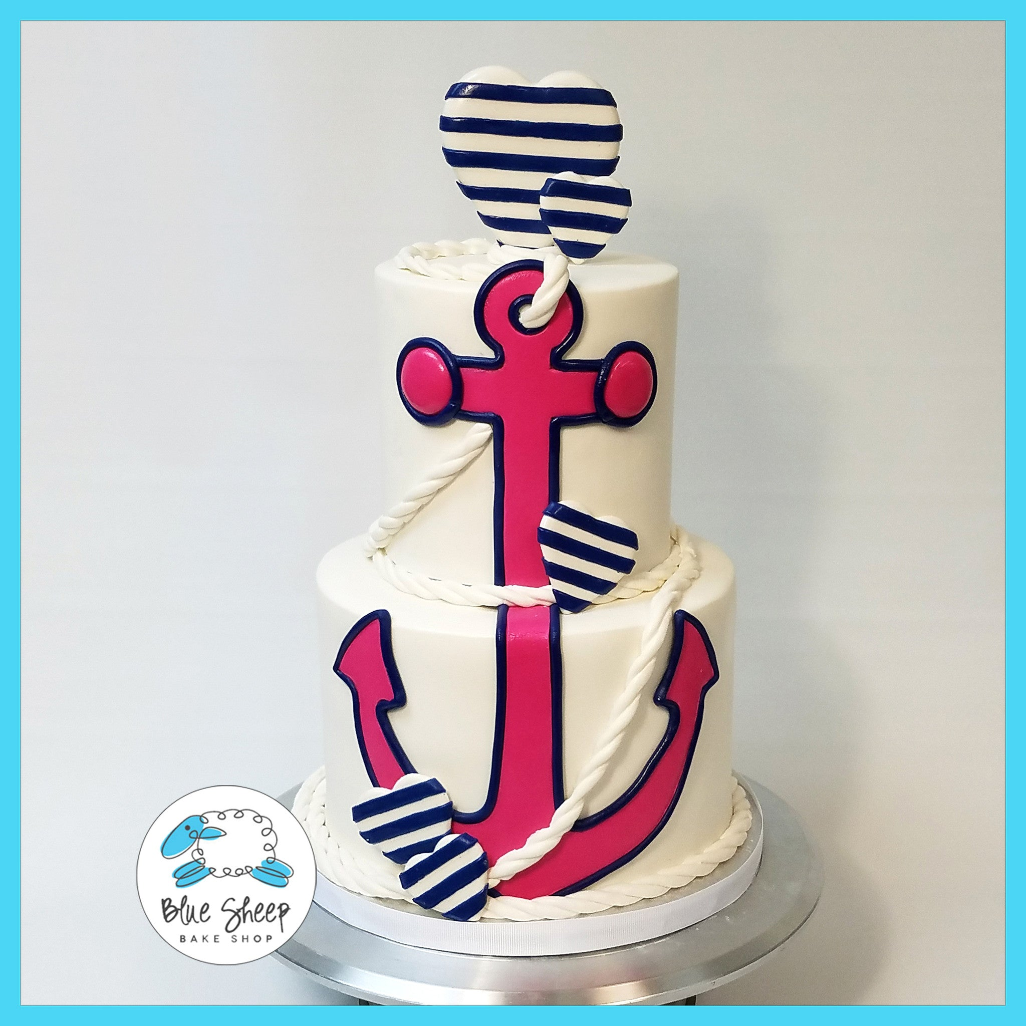 Strange Gender Reveal Nautical Themed Cake Nj Blue Sheep Bake Shop Personalised Birthday Cards Sponlily Jamesorg
