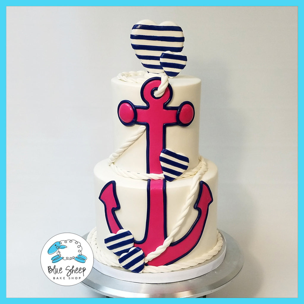 nautical gender reveal cake nj
