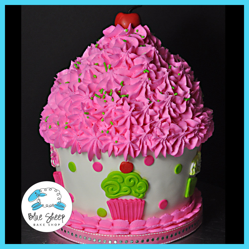 Cupcake Birthday Cake Blue Sheep Bake Shop