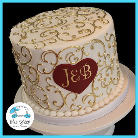 Engagement Cake Designs 2018 : Custom Specialty Cakes and Cupcakes NJ - Blue Sheep Bake ...