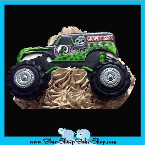 Grave Digger Giant Birthday Cupcake Cake