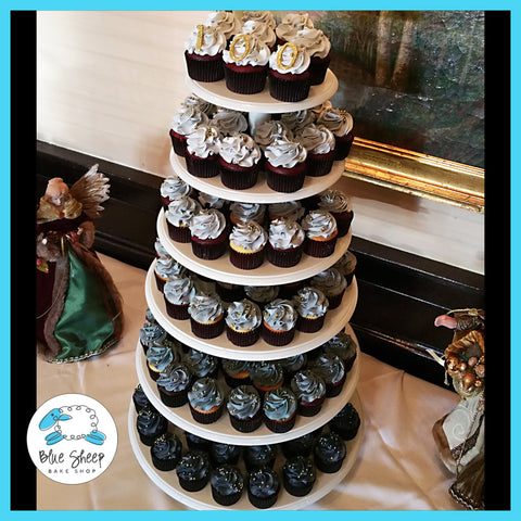 grey ombre cupcake tower nj