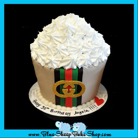 Gucci Giant Birthday Cupcake Cake