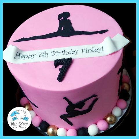 Gymnast birthday cake nj