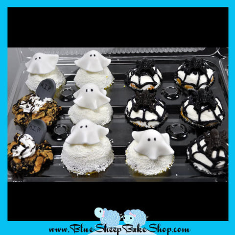 Halloween Cupcakes - Ghosts, Graves and Spiders!