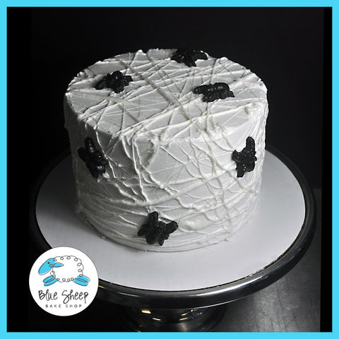 Buttercream Spider Web Halloween Cake