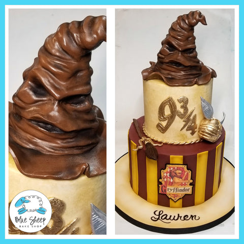 harry potter birthday cake sorting hat nimbus 2000 golden snitch nj custom cakes