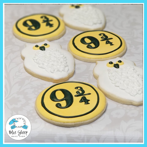 Harry Potter Hedwig & 9 3/4 Decorated Cookie Favors NJ