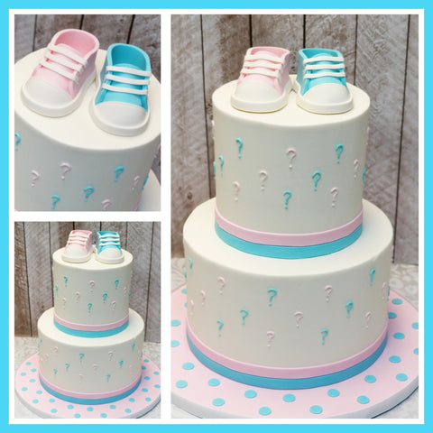 Gender Reveal Baby Shower Cake NJ