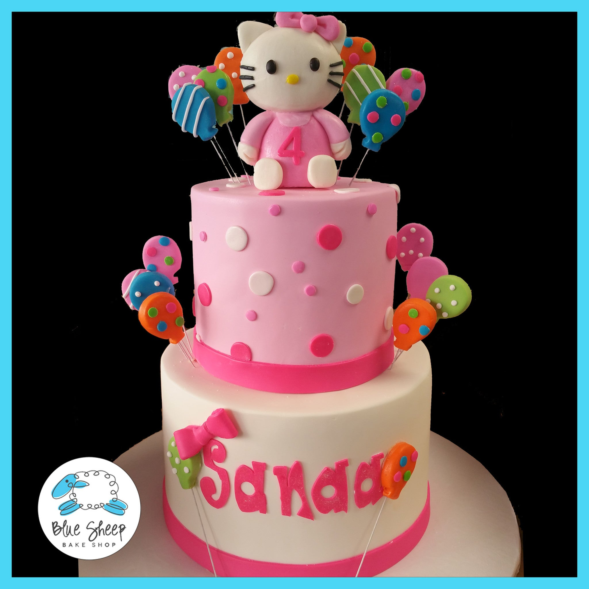 Astonishing Hello Kitty Birthday Cake Blue Sheep Bake Shop Personalised Birthday Cards Cominlily Jamesorg