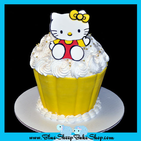 hello kitty giant cupcake birthday cake