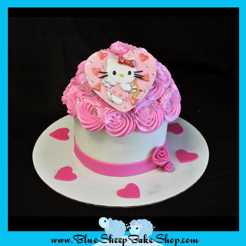 Hello Kitty Giant Cupcake Cake Blue Sheep Bake Shop
