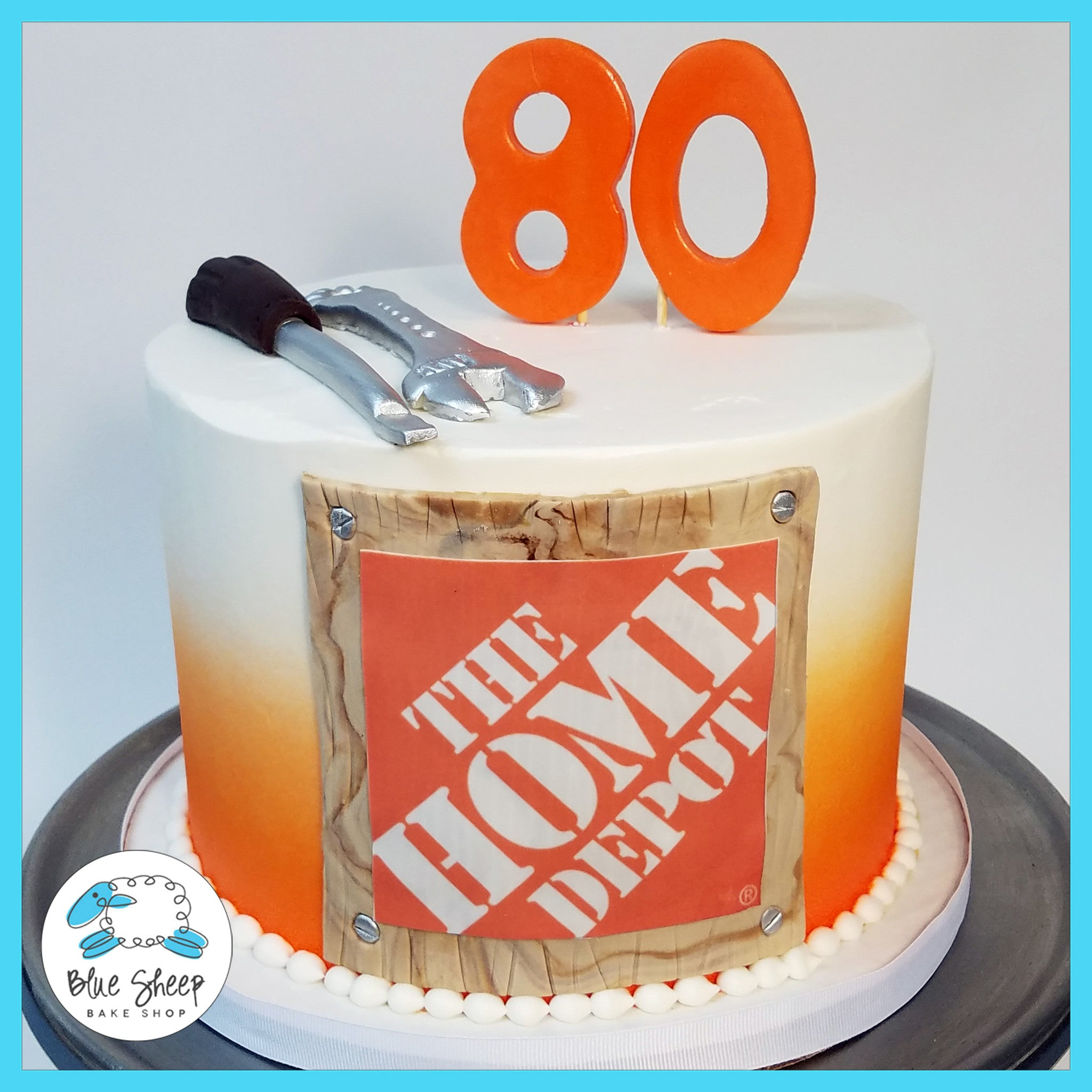 Home Depot Birthday Cake Blue Sheep Bake Shop