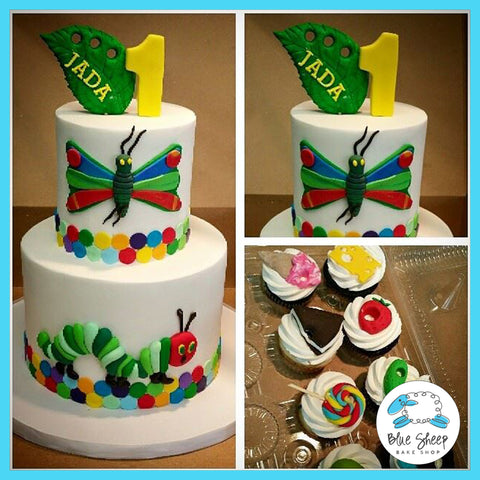 Hungry, Hungry Caterpillar 1st Birthday Cake