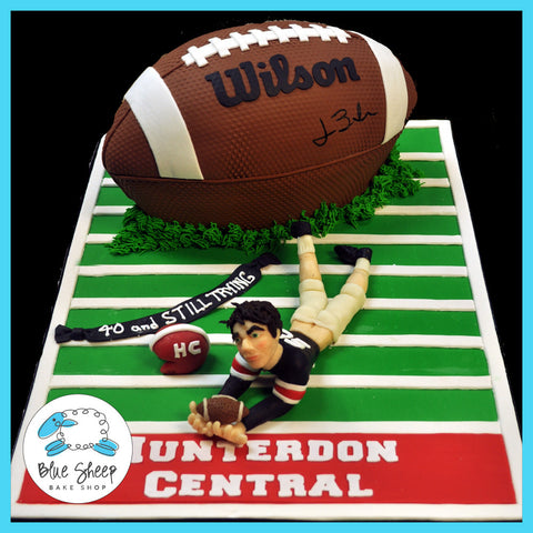 40th birthday cake football
