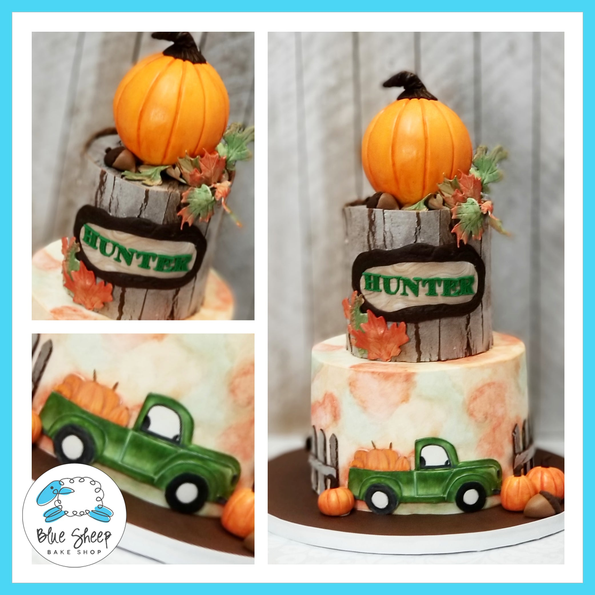 Admirable Hunters Pumpkin Patch 1St Birthday Cake Nj Custom Cakes Blue Personalised Birthday Cards Beptaeletsinfo