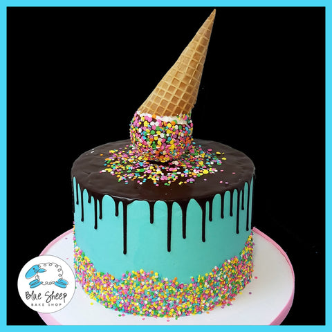 ice cream cone drip cake nj