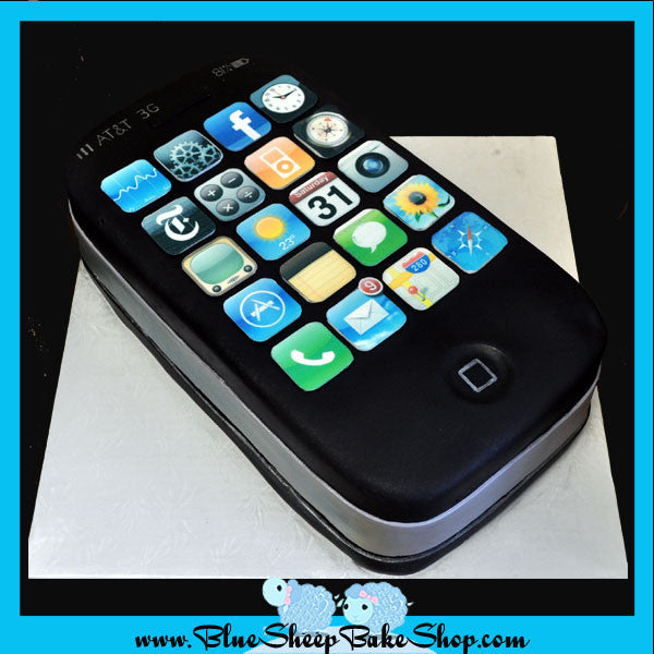 iPhone grooms cake or birthday cake - Blue Sheep Custom Specialty Cakes NJ