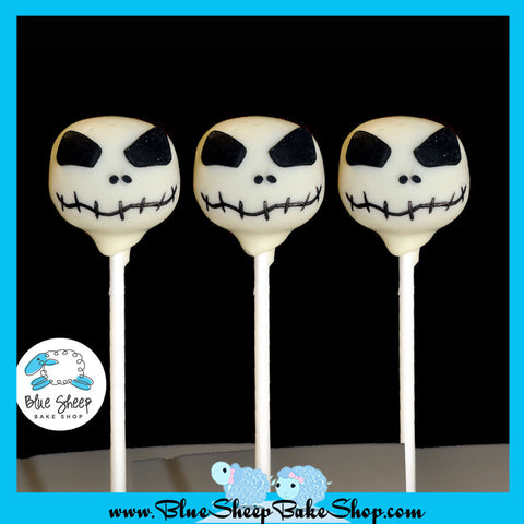 jack skellington cake pops skeleton cake pop