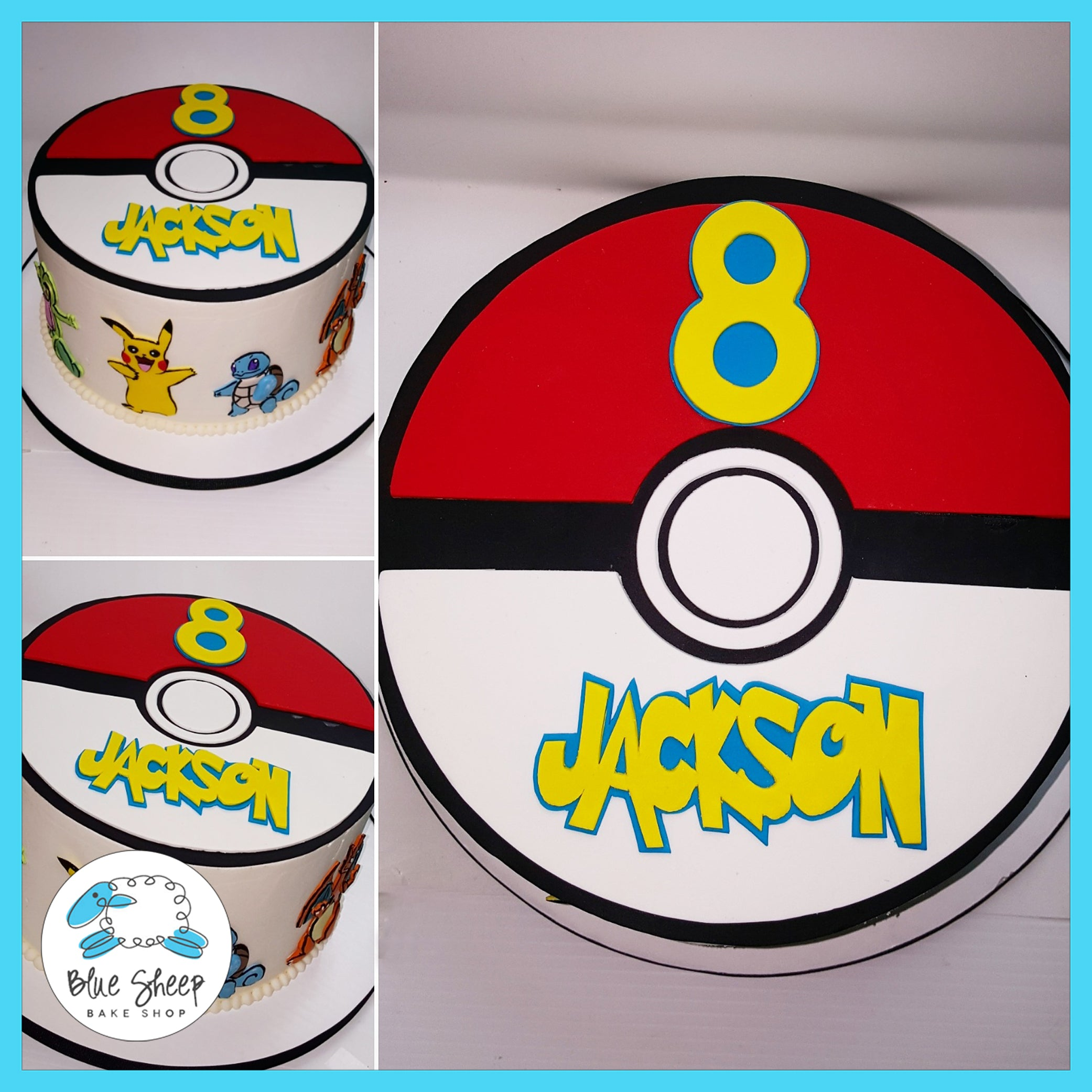 Stupendous Jacksons Pokemon Birthday Cake Nj Blue Sheep Bake Shop Personalised Birthday Cards Bromeletsinfo